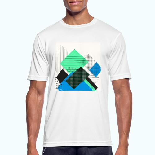 Abstract rectangles pastel - Men's Breathable T-Shirt
