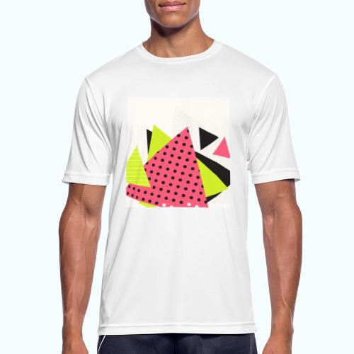 Neon geometry shapes - Men's Breathable T-Shirt