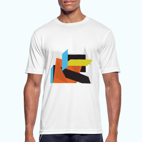 Vintage shapes abstract - Men's Breathable T-Shirt