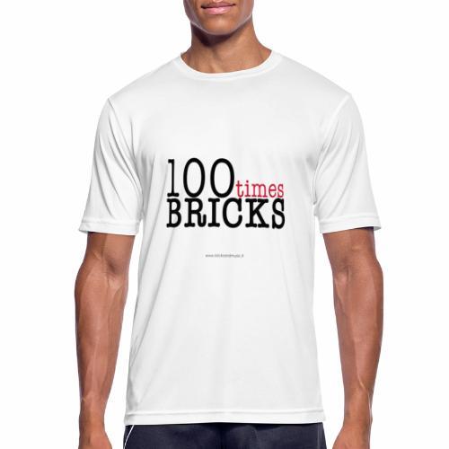 100times BRICKS - Maglietta da uomo traspirante