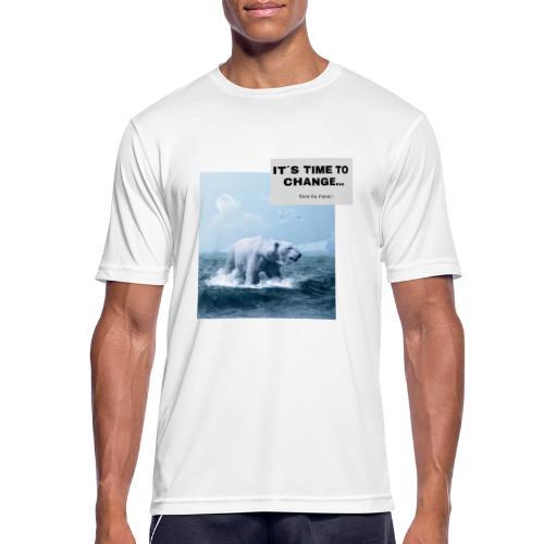 It s Time to Change - Männer T-Shirt atmungsaktiv
