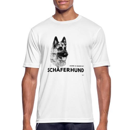 Home is where my Schäferhund is ! - Männer T-Shirt atmungsaktiv