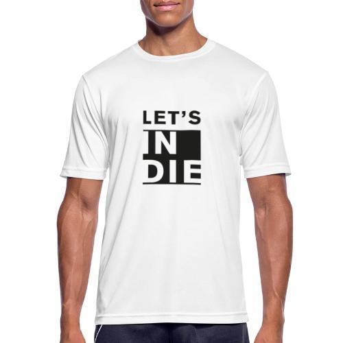Official LET'S INDIE - Maglietta da uomo traspirante