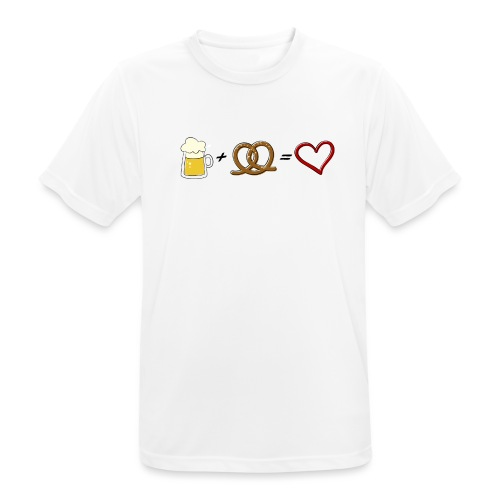 pretzel + beer = love - Men's Breathable T-Shirt
