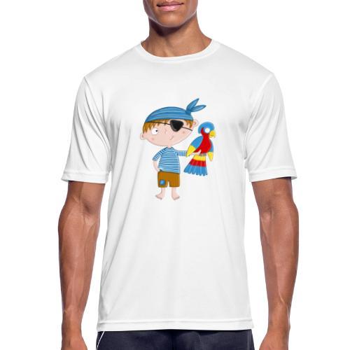 Kleiner Pirat mit Papagei - Männer T-Shirt atmungsaktiv
