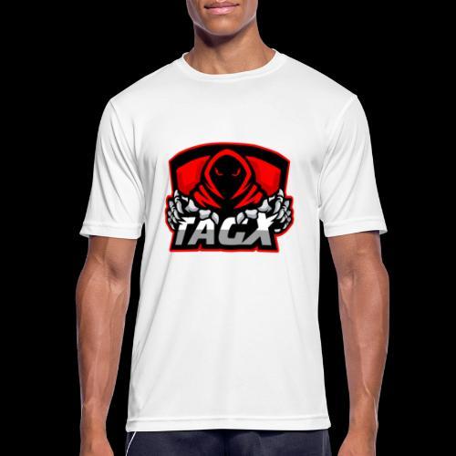 TagX Logo with red borders - miesten tekninen t-paita