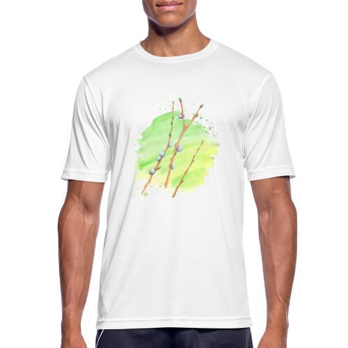 Weidenkätzchen - Männer T-Shirt atmungsaktiv