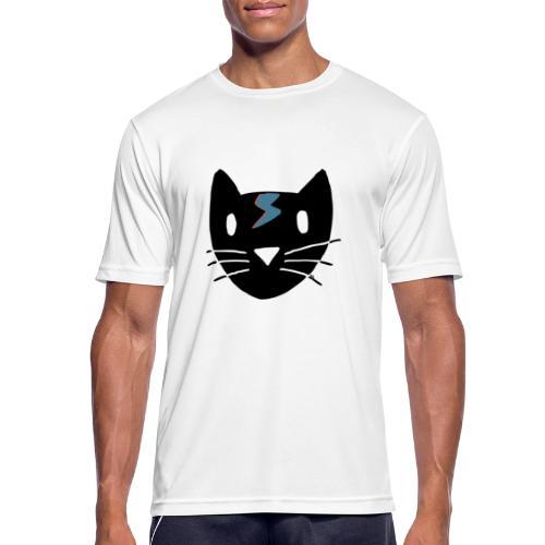 Bowie Cat - Männer T-Shirt atmungsaktiv