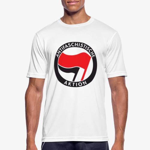 Atnifaschistische Action - Antifa Logo - Men's Breathable T-Shirt