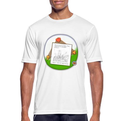 Petrus trifft Jesus - zu viele Fische ! - Männer T-Shirt atmungsaktiv