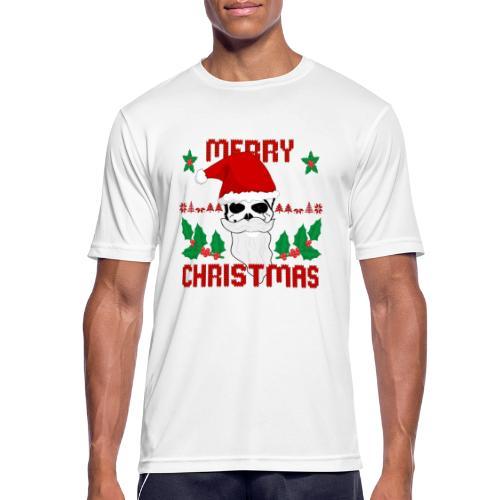 Merry Christmas Skull - Männer T-Shirt atmungsaktiv