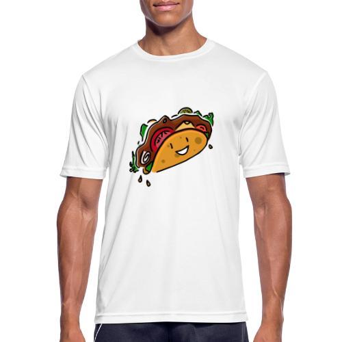 Glücklicher Taco - Männer T-Shirt atmungsaktiv