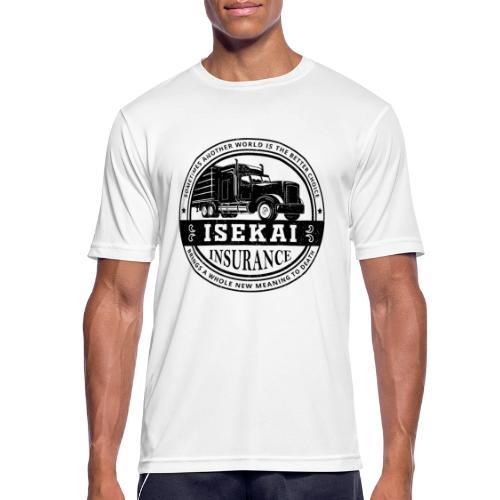 Funny Anime Shirt Isekai insurance Co. - Black - Mannen T-shirt ademend actief