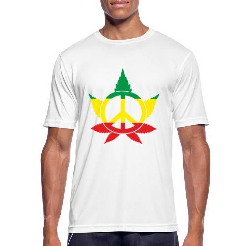 Peace färbig - Männer T-Shirt atmungsaktiv
