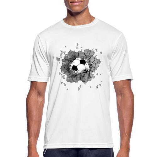 Football durch wand - Männer T-Shirt atmungsaktiv