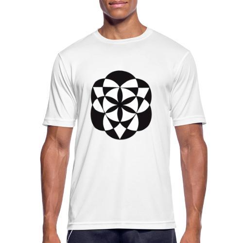 diseño de figuras geométricas - Camiseta hombre transpirable