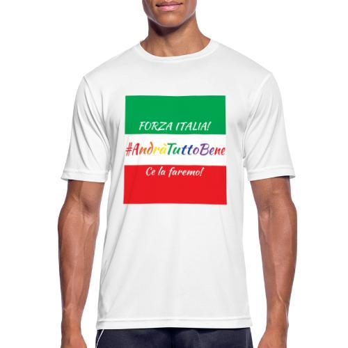 Andrà Tutto Bene su Bandiera Italiana - Maglietta da uomo traspirante