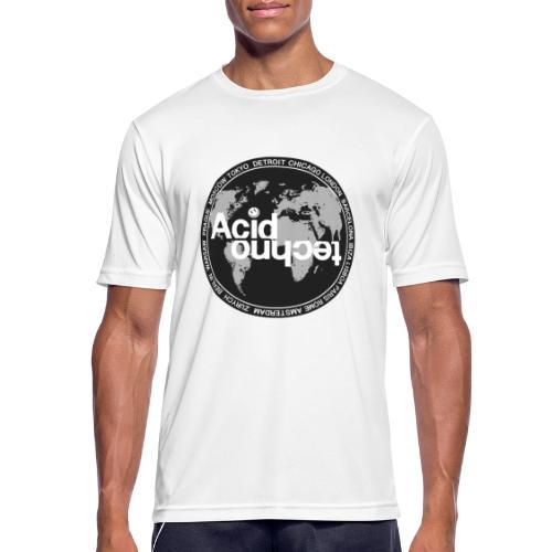 acid techno world - Koszulka męska oddychająca