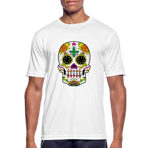skull4 - Maglietta da uomo traspirante