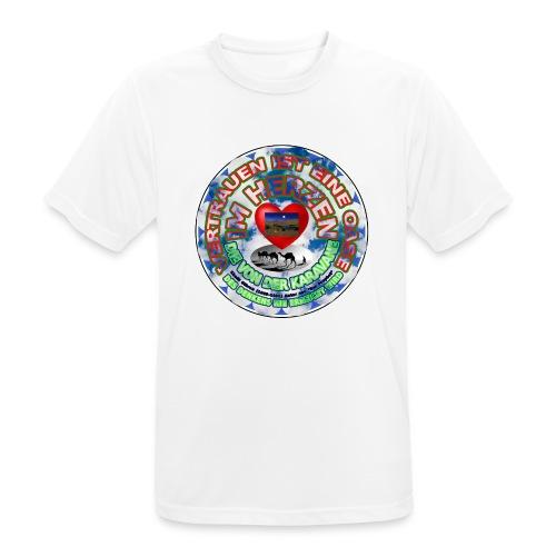 Oase im Herzen - Männer T-Shirt atmungsaktiv