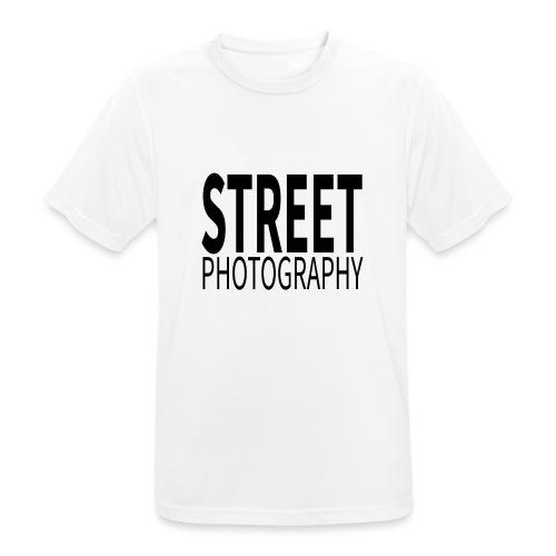 Street photography Black - Maglietta da uomo traspirante