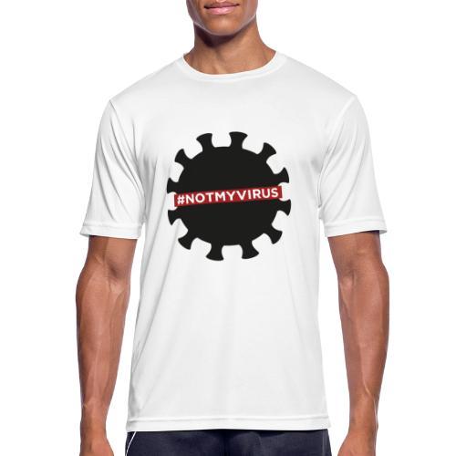 NotMyVirus black - T-shirt respirant Homme