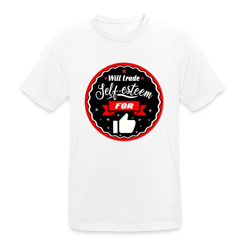 Swap self-esteem for likes (inches) - Men's Breathable T-Shirt