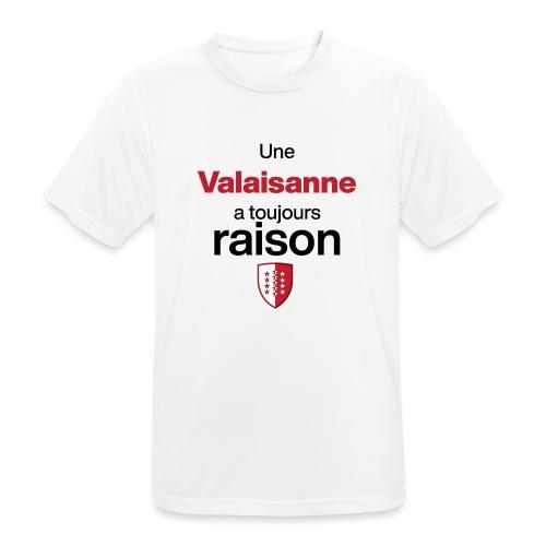 Une valaisanne a toujours raison - Männer T-Shirt atmungsaktiv