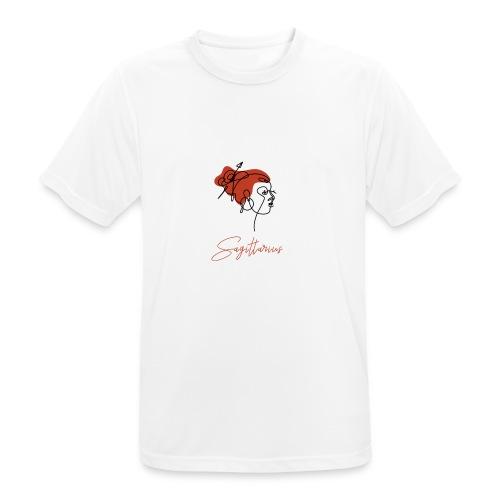 Sagittarius Zodiac Sign Line Art - Männer T-Shirt atmungsaktiv