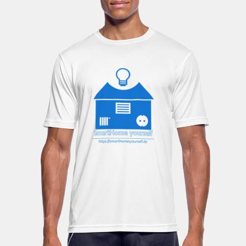 SmartHome yourself Logo Groß - Männer T-Shirt atmungsaktiv