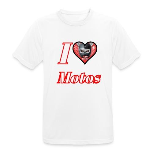 ilovemotos - Camiseta hombre transpirable