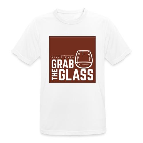 Grabtheglass LOGO - Männer T-Shirt atmungsaktiv