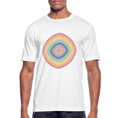 Lucky square in summery colors - Men's Breathable T-Shirt