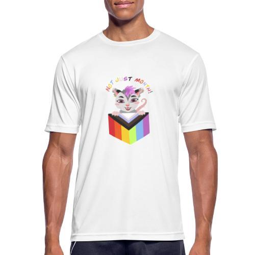 Not just a month - Herre T-shirt svedtransporterende