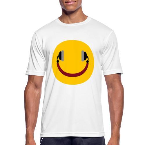 Smiling headphone - Herre T-shirt svedtransporterende