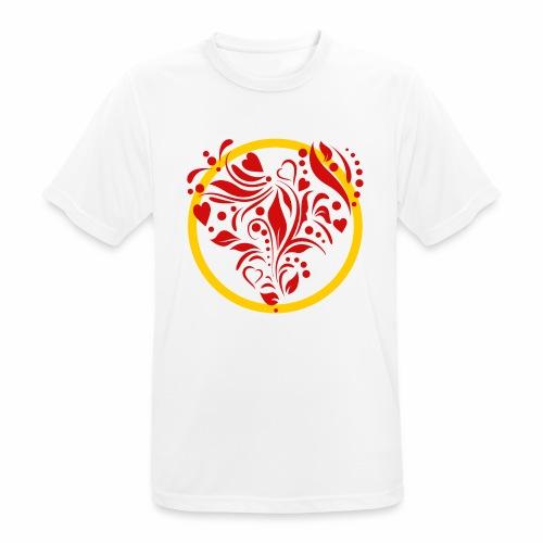 Herzemblem - Männer T-Shirt atmungsaktiv
