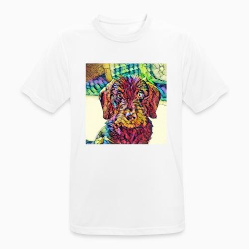 Rauhaardackel Welpe Kunst - Männer T-Shirt atmungsaktiv