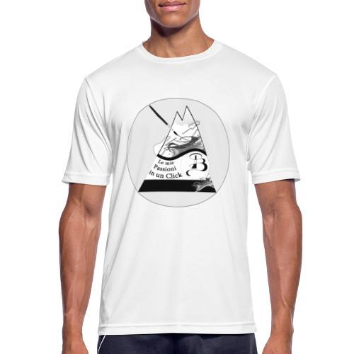 Logo BN - Maglietta da uomo traspirante