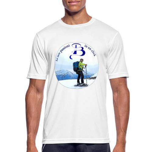Logo cartone ciaspole - Maglietta da uomo traspirante