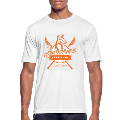 Llamas - Maastricht Lacrosse - Oranje - Mannen T-shirt ademend
