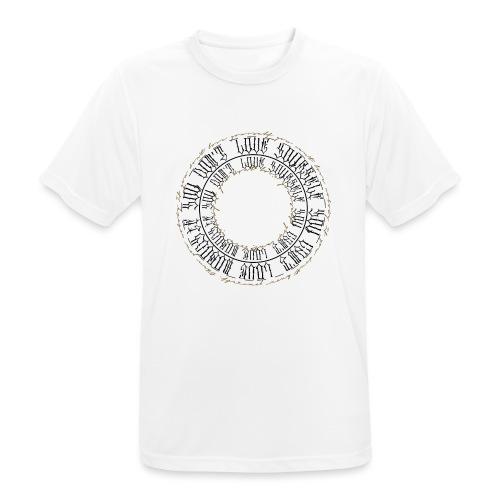 CALLIGRAPHY-CIRCLE - Maglietta da uomo traspirante
