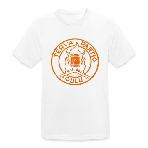 Tervapartio_oranssi - miesten tekninen t-paita