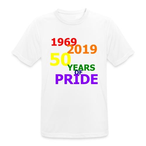 50 Jahre CSD - Männer T-Shirt atmungsaktiv