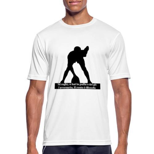 Rugby - Maglietta da uomo traspirante