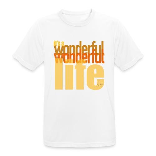It's a wonderful life beach colours - Men's Breathable T-Shirt