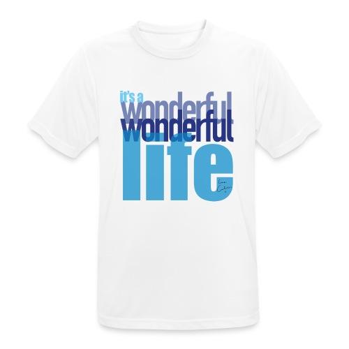 It's a wonderful life blues - Men's Breathable T-Shirt