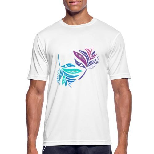 foglie geometriche - Maglietta da uomo traspirante