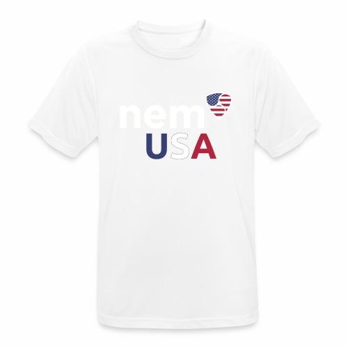 NEM USA white - Maglietta da uomo traspirante