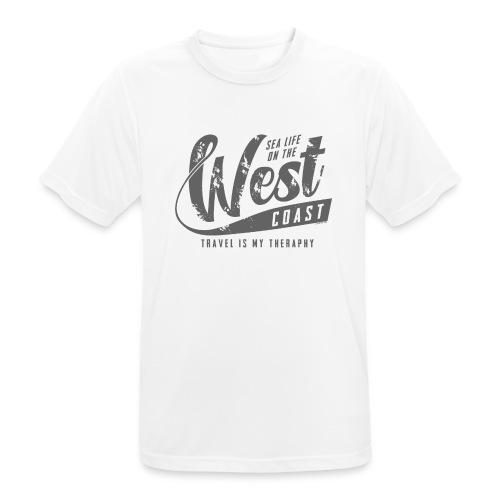 West Coast Sea Surfer Textiles, Gifts, Products - miesten tekninen t-paita