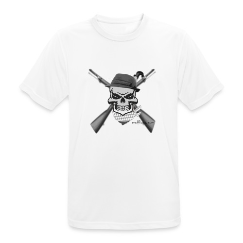 Totenkopf mit Hutund Gewehr2 - Männer T-Shirt atmungsaktiv
